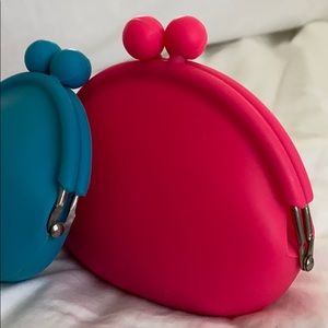 Bags - TWO Silicone change purses